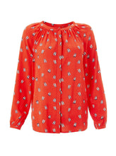 Load image into Gallery viewer, Long Sleeve Button-Up Shoe-Print Blouse