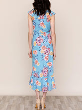 Load image into Gallery viewer, Sleeveless Ruffle Trim Midi Wrap Dress