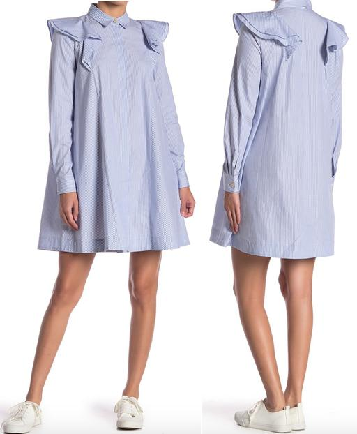 Long Sleeve Collar Shirtdress