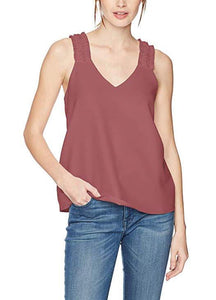Sleeveless V-Neck Ruffle-Strap Blouse