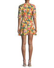 Load image into Gallery viewer, Half Sleeve Embellished Printed Mini Dress