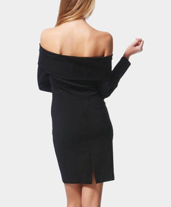 Long Sleeve Off-the-Shoulder Body Con Dress