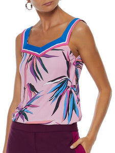 Colorful Bamboo Sweetheart Neck Top
