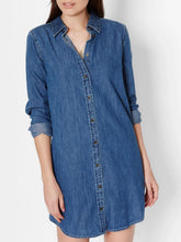 Load image into Gallery viewer, Denim Shirtdress
