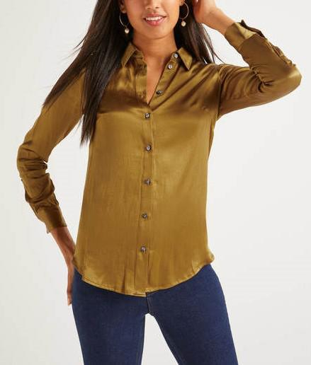 Satin Semi-Fitted Shirt