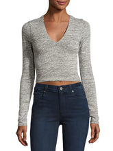 Load image into Gallery viewer, Long Sleeve Knitted Crop Top