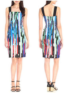 Abstract Striped Print Dress