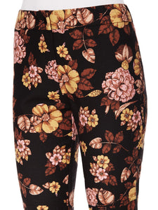 Mid-Rise Floral Print Ankle Trousers