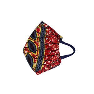 Oula Face Mask - Red-Yellow