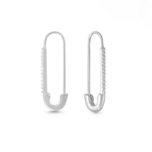 Load image into Gallery viewer, Safety Pin Earrings - Sterling Silver