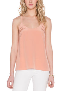 Sleeveless Scoop Neck Bow Tie-Back Cami