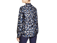 Load image into Gallery viewer, Long Sleeve Neck-Tie Printed Blouse