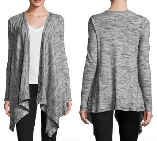 Granite Draped Cardigan