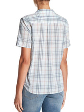 Load image into Gallery viewer, Short Sleeve Collared Front-Tie Plaid Button-Up Shirt