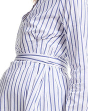 Load image into Gallery viewer, Maternity Wrap V-Neck Dress Shirt
