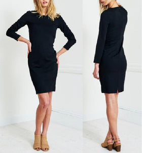 Long Sleeve Pencil Sheath Dress