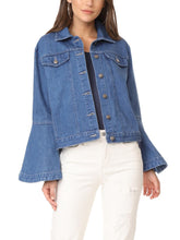 Load image into Gallery viewer, Flute Sleeve Denim Jacket