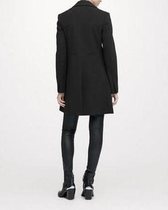 Tailored Three Pocket Wool Coat