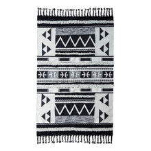Load image into Gallery viewer, Luxury Collection - Artesia Kilim Shag Ivory & Black Rug