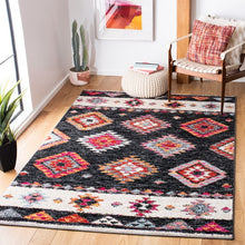 Load image into Gallery viewer, Safavieh Adirondack Bohemian Black & Red Rug