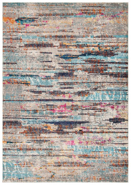 Safavieh Madison Modern Grey & Turquoise Rug