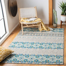 Load image into Gallery viewer, Safavieh Madison Bohemian Grey & Turquoise Rug