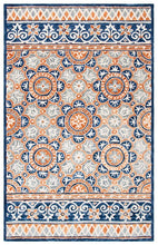 Load image into Gallery viewer, Safavieh Micro-loop Light Brown & Blue Rug