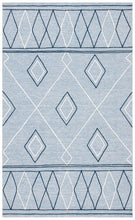 Load image into Gallery viewer, Safavieh Kilim Bohemian Light Blue & Ivory Rug