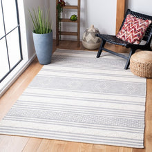 Load image into Gallery viewer, Safavieh Kilim Contemporary Silver & Ivory Rug