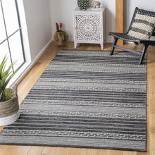 Load image into Gallery viewer, Safavieh Kilim Farmhouse Ivory & Black Rug