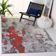 Load image into Gallery viewer, Safavieh Adirondack Contemporary Gray & Orange Rug