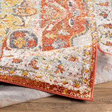 Load image into Gallery viewer, Farmhouse Ankara Terracotta & Taupe Rug