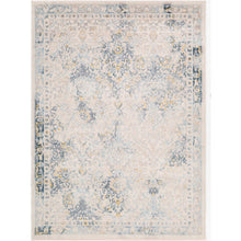 Load image into Gallery viewer, Farmhouse Ankara Sky Blue & Light Gray Rug
