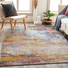 Load image into Gallery viewer, Farmhouse Ankara Sunset & Navy Rug