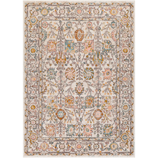 Farmhouse Ankara Blush & Ivory Rug