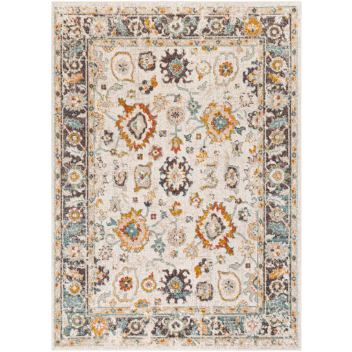 Farmhouse Ankara Multi & Charcoal Rug