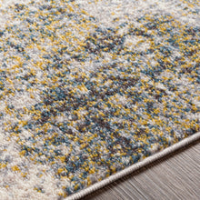 Load image into Gallery viewer, Farmhouse Ankara Charcoal & Yellow Rug