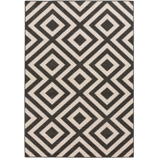 Surya Outdoor Alfresco Black & White Area Rug - ALF-9639