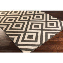 Load image into Gallery viewer, Surya Outdoor Alfresco Black & White Area Rug - ALF-9639