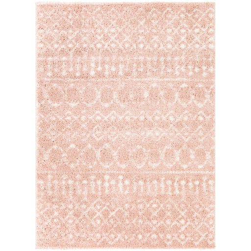 Aliyah Farmhouse Shag Blush & Cream Rug