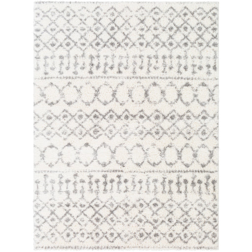 Aliyah Farmhouse Shag Cream & Gray Rug