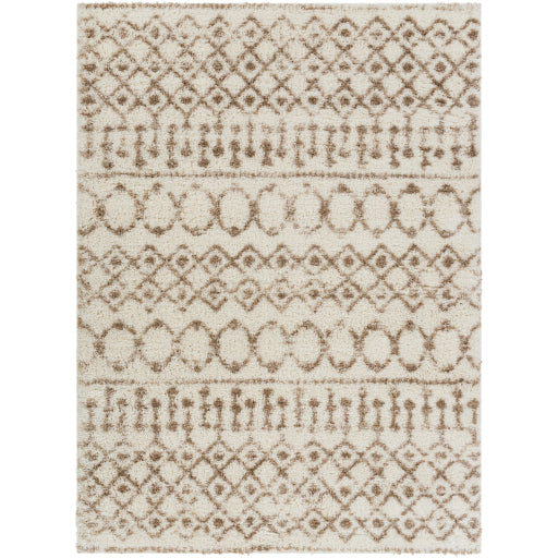Aliyah Farmhouse Shag Beige & Cream Rug