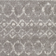 Load image into Gallery viewer, Aliyah Farmhouse Shag Gray & Cream Rug