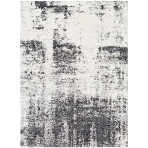 Aliyah Farmhouse Shag Charcoal & Light Gray Rug