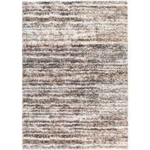 Load image into Gallery viewer, Aliyah Farmhouse Shag Charcoal & Beige Rug