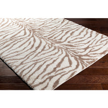 Load image into Gallery viewer, Aliyah Farmhouse Shag Camel Zebra Rug