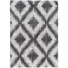 Load image into Gallery viewer, Aliyah Farmhouse Shag Gray Diamond Rug