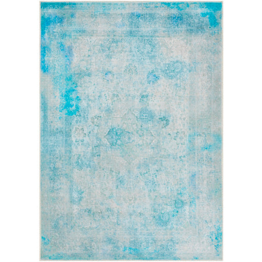 WASHABLE Amelie Sky Blue & Teal Area Rug