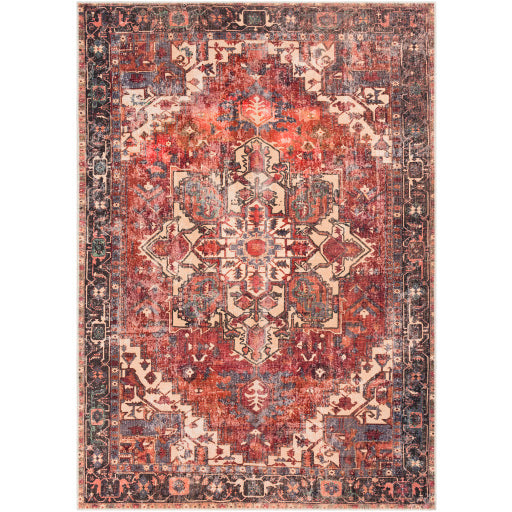 WASHABLE Amelie Crimson & Rose Area Rug