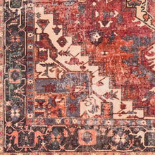 Load image into Gallery viewer, WASHABLE Amelie Crimson & Rose Area Rug